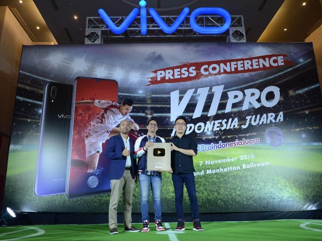 Capai 1 Juta Subscriber, Vivo Gaet Penghargaan Gold Play Button