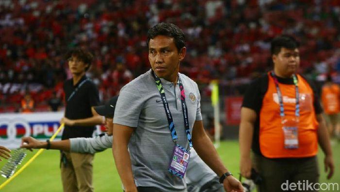 Pelatih Timnas indonesia, Bima Sakti (Pradita Utama/detikSport)