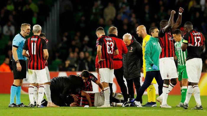 Sejumlah pemain AC Milan cedera jelang pertandingan melawan Juventus (Foto: Marcelo Del Pozo/Reuters)