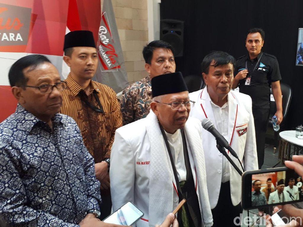 Tanggapi Rizieq, Maruf Amin: Jokowi Kerja Tak Cari Pencitraan