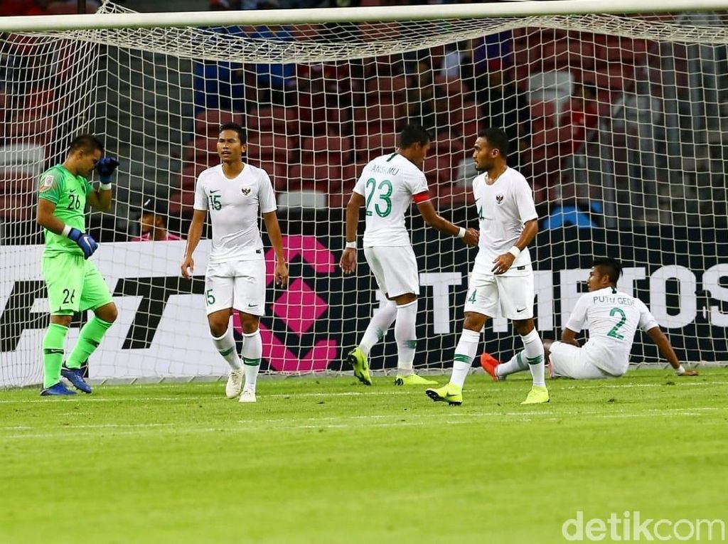 Indonesia Tertinggal 0-2 dari Yordania di Babak I