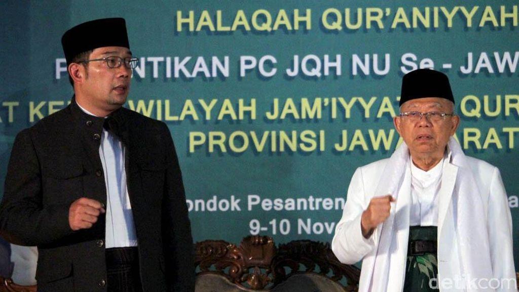 Maruf Amin Launching Satu Desa Satu Hafidz Bersama Ridwan Kamil
