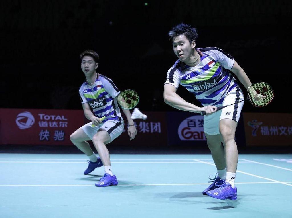 Kalahkan Ganda Tuan Rumah, Marcus/Kevin Juara