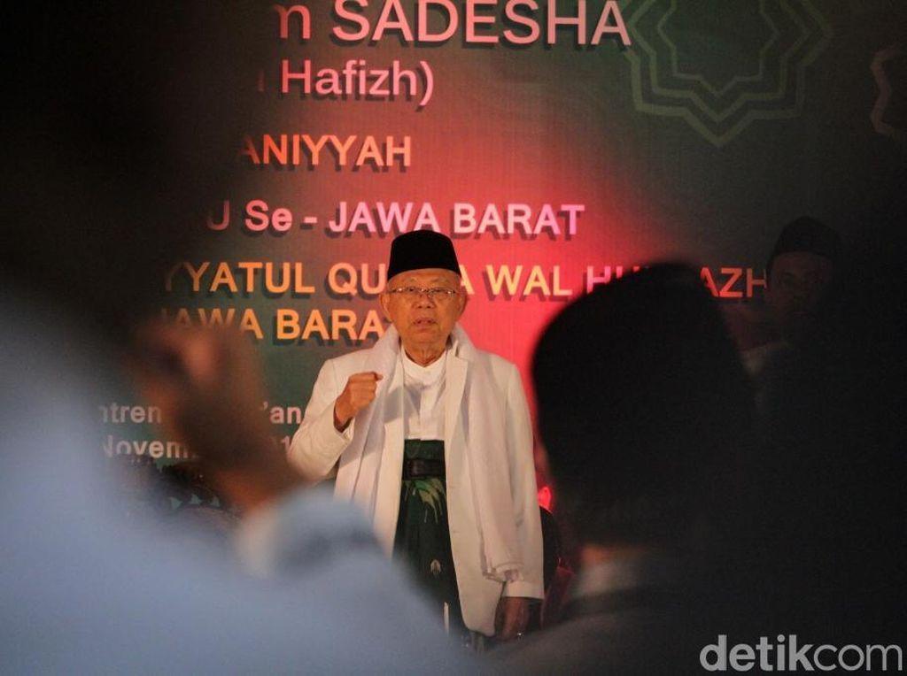 Maruf Amin ke Santri di Bandung: Kiai Bisa Juga Jadi Pebisnis