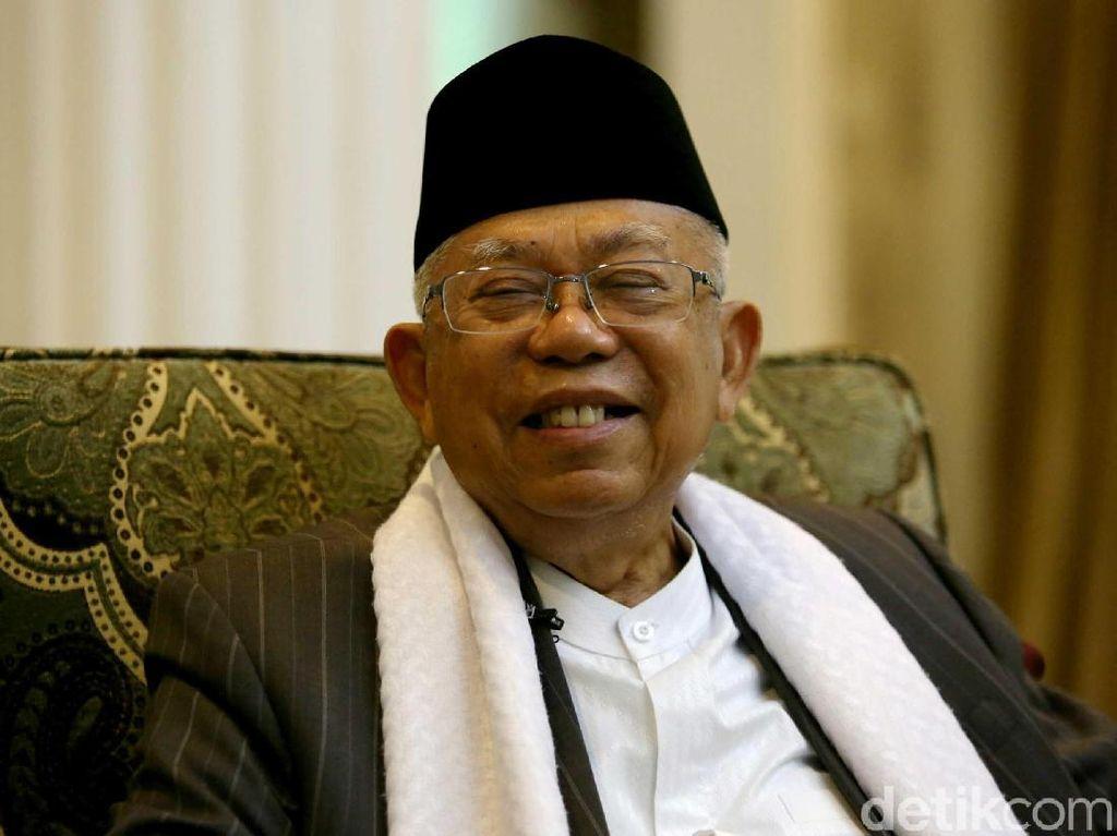 Maruf Amin Yakin Tak Ada Ancaman ke Elite Pendukung Prabowo