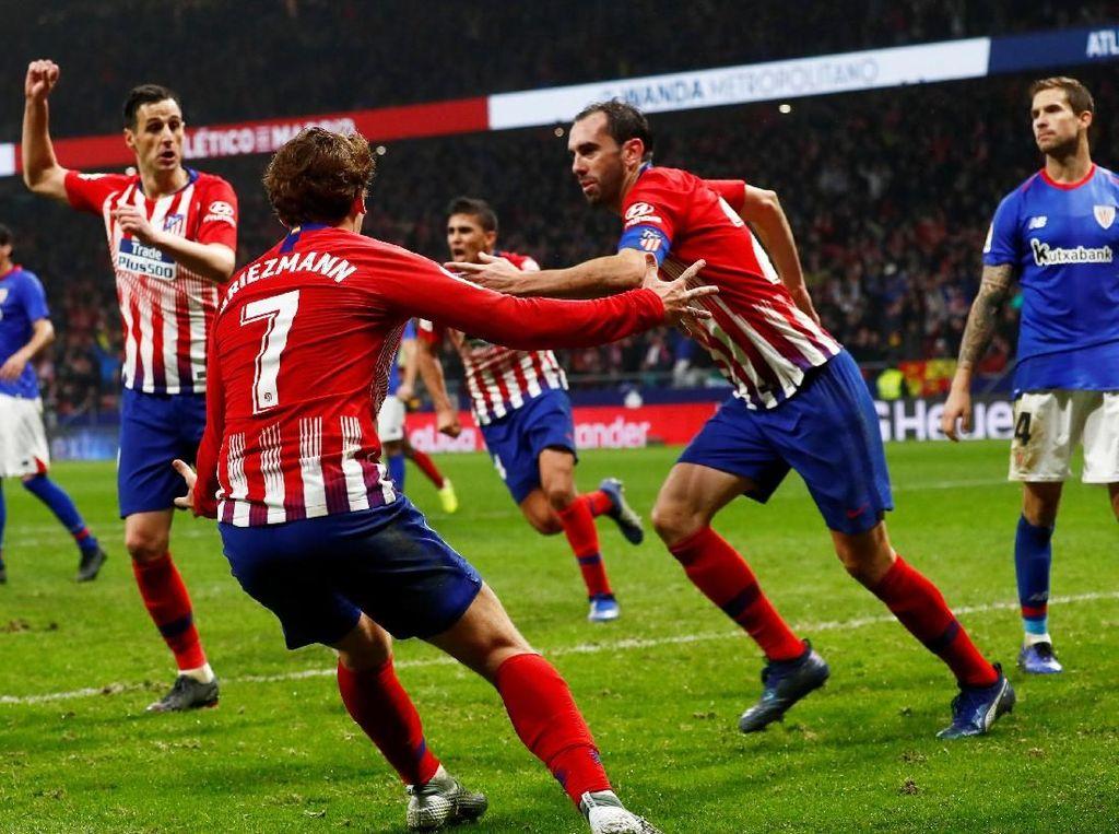Hasil Liga Spanyol: Atletico Menang Dramatis Atas Bilbao
