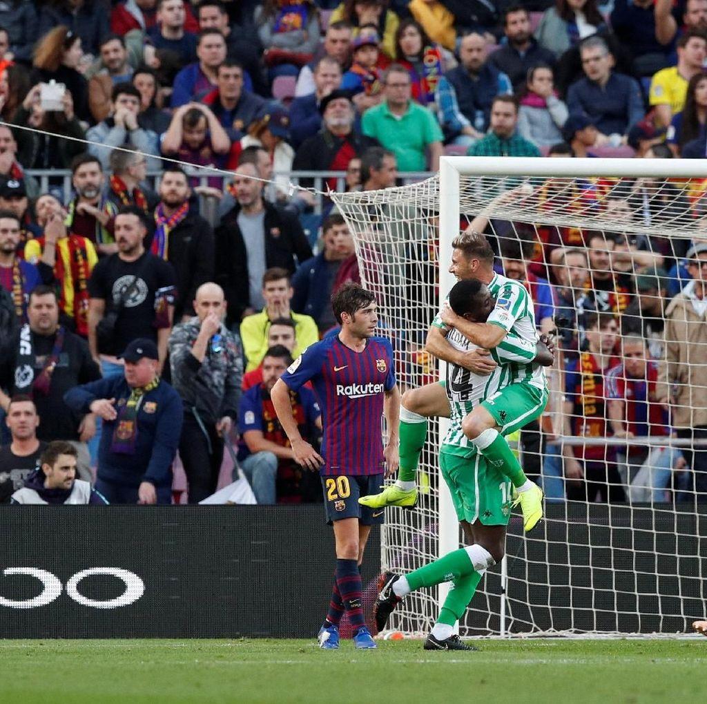 Messi Comeback, Barcelona Dikalahkan Real Betis di Camp Nou