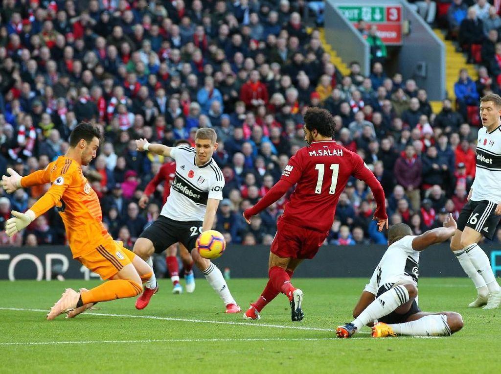 Babak I Liverpool vs Fulham: Salah Antar The Reds Unggul 1-0