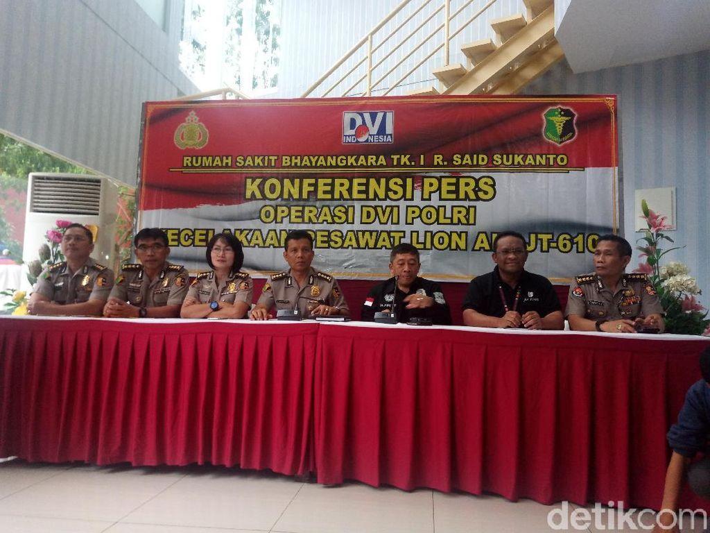 DVI Polri: Masih Ada Harapan Identifikasi Korban Lion Air Via DNA