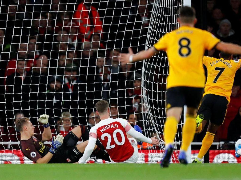 Babak I Selesai, Arsenal Tertinggal 0-1 dari Wolverhampton