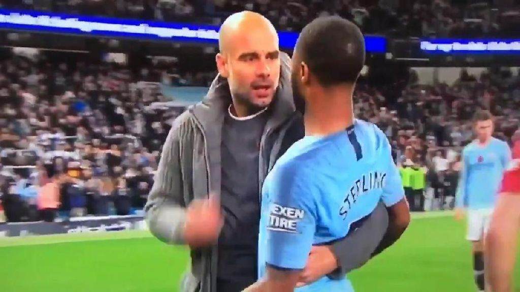 Momen Cekcok Guardiola dan Sterling