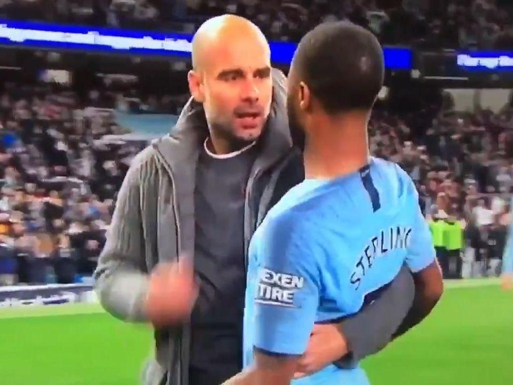 Momen Cekcok Guardiola dan Sterling