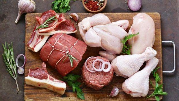 Ilustrasi daging dan ayam