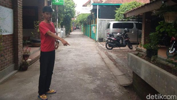 Lokasi begal payudara di Yogyakarta yang terjadi pada November 2018.