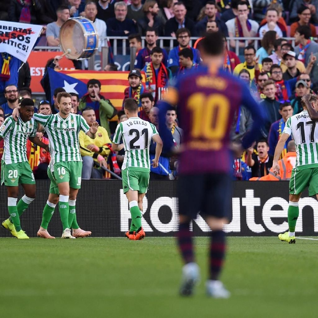 Hasil Barcelona vs Real Betis: Blaugrana Takluk 3-4