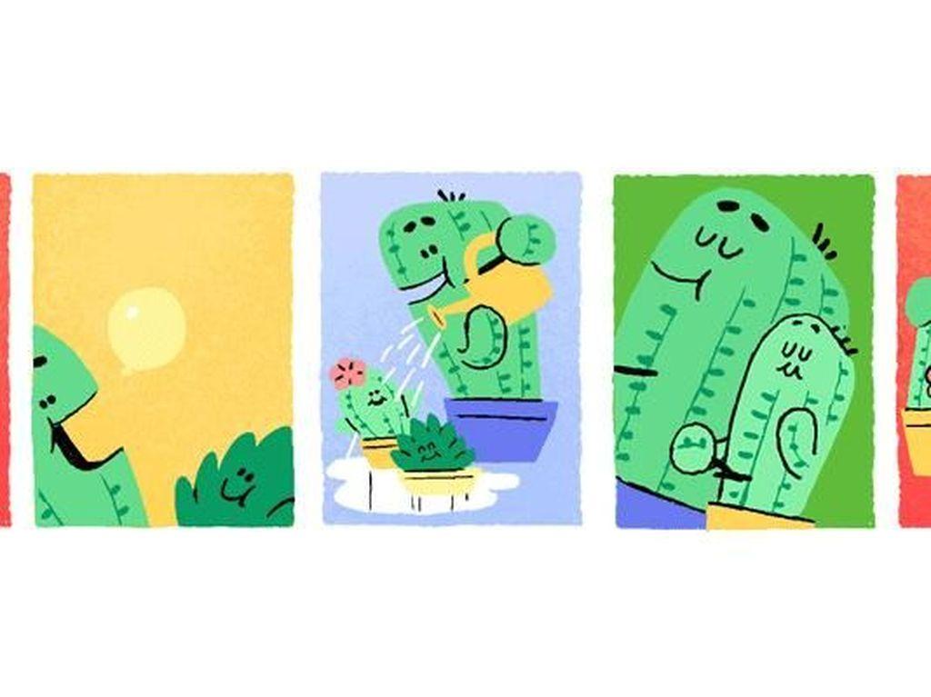 Lucunya Google Doodle Hari Ayah dari Tahun ke Tahun