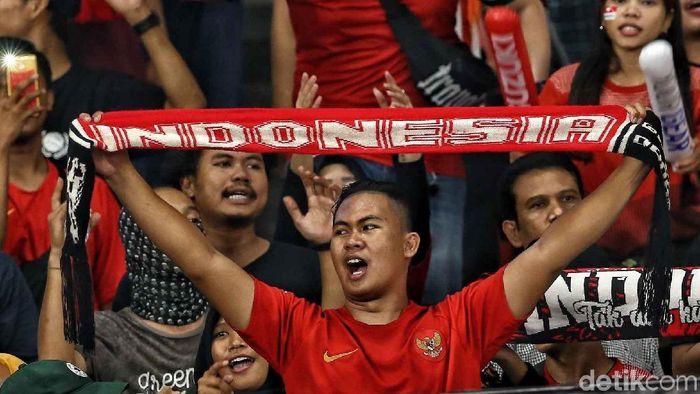 Suporter Indonesia. (Foto: Pradita Utama/detikSport.)