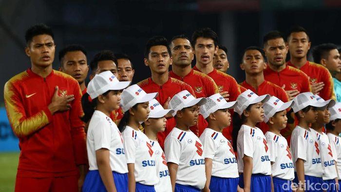 Timnas Indonesia diperkirakan mengalami sejumlah perubahan di susunan pemain untuk laga lawan Thailand. (Foto: Pradita Utama/detikSport)