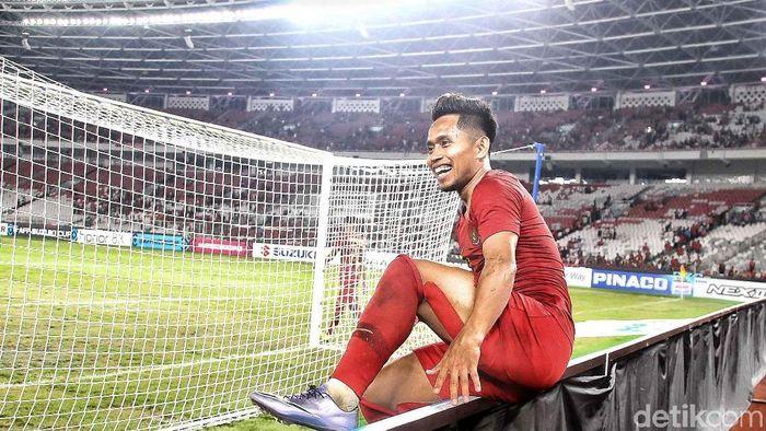 Andik Vermansah menjadi man of the match. (Foto: Pradita Utama/detikcom)