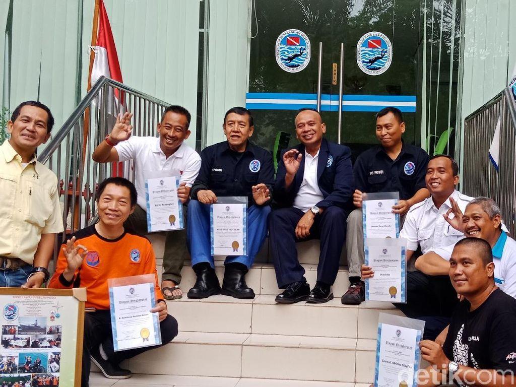 POSSI Beri Penghargaan ke Penyelam yang Bantu Cari Lion Air PK-LQP