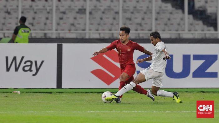 Andik Vermansah di Timnas Indonesia Piala AFF 2018, kanan oke, kiri juga oke (CNN Indonesia/Adhi Wicaksono)