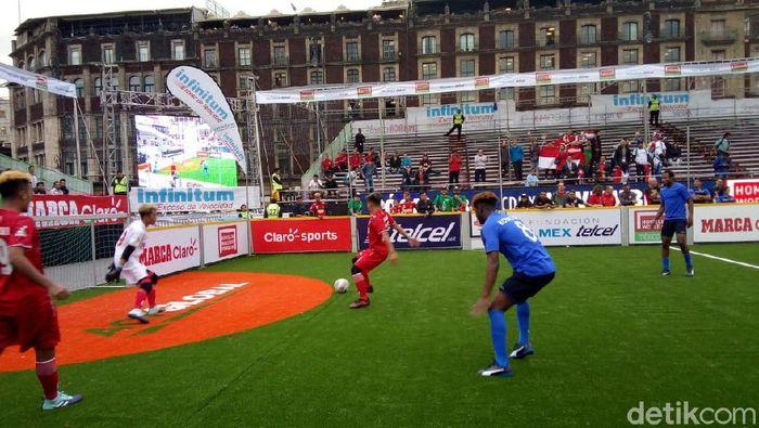 Tim HWC Indonesia meraih satu kemenangan dan sekali kalah adu penalti di hari pertama (Fitra Ismu/detikSport)