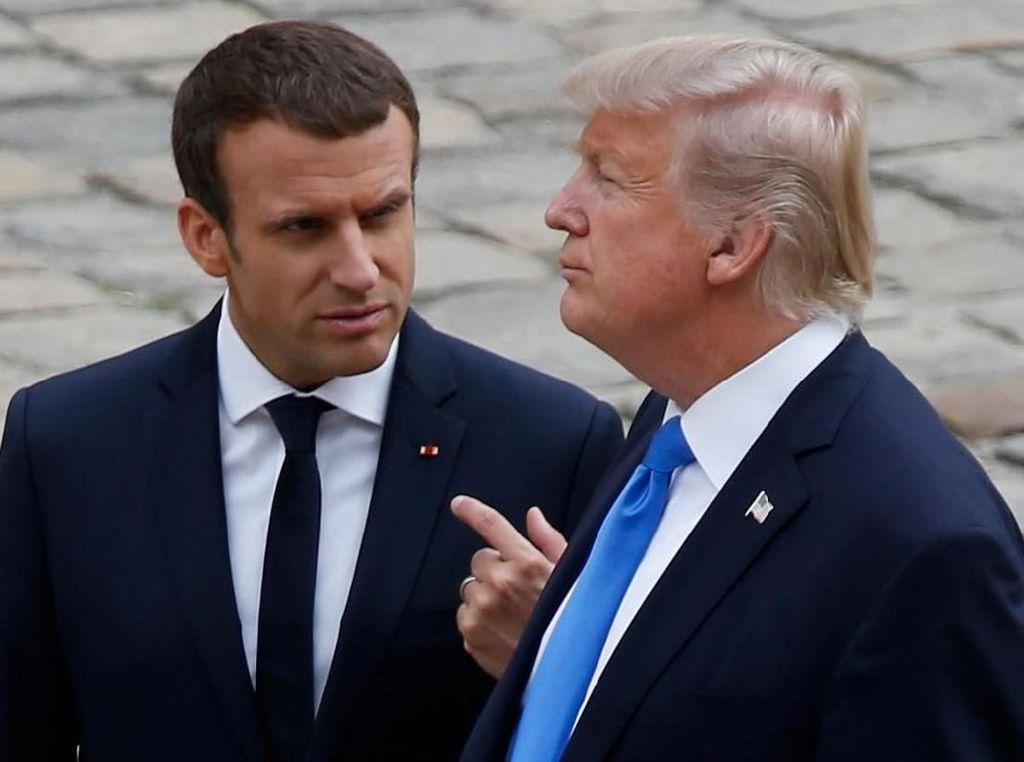 Saat Trump Salah Sebut Presiden Macron Sebagai PM Prancis