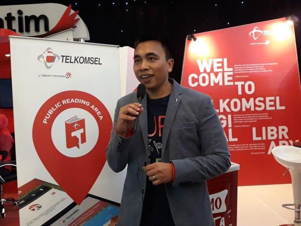 Telkomsel Bikin T-Perpus untuk Tingkatkan Minat Baca Masyarakat