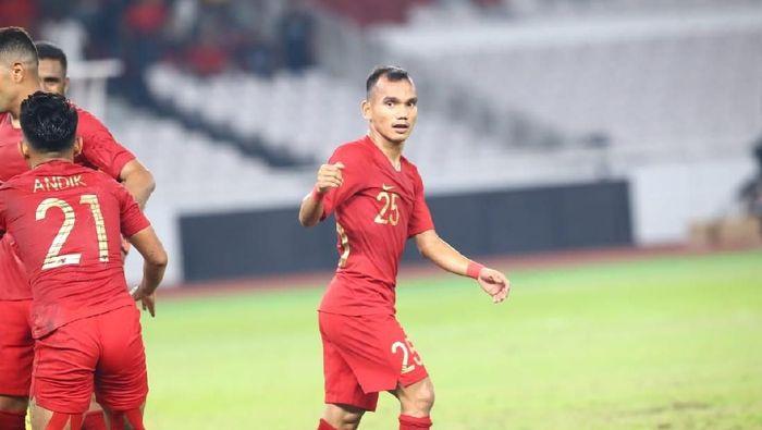 Riko Simanjuntak menyumbang satu assist saat Indonesia mengalahkan Timor Leste 3-1. (Foto: Pradita Utama/detikcom)