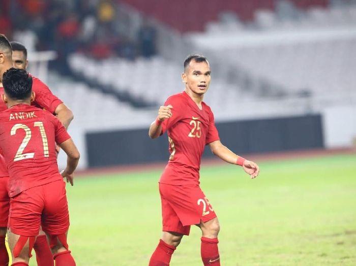 Pemain timnas Indonesia, Riko Simanjuntak. (Foto: Pradita Utama/detikcom)