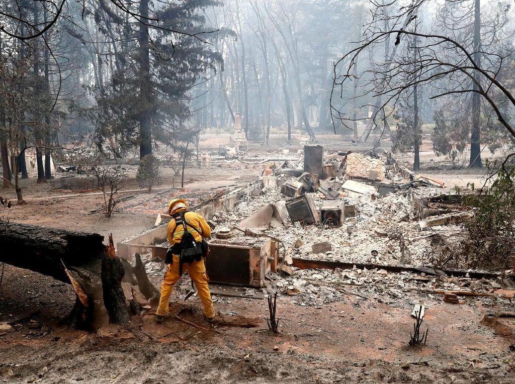 Korban Kebakaran California Terpaksa Tinggal di Supermarket