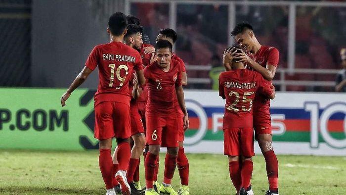 Indonesia sempat tertinggal duluan dari Timor Leste, namun pada akhirnya menutuk laga dengan kemenangan. (Foto: Pradita Utama/detikcom)