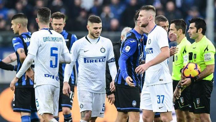 Kekalahan telak dari Atalanta bagai tamparan di wajah Inter Milan. (Foto: Miguel Medina/AFP Photo)