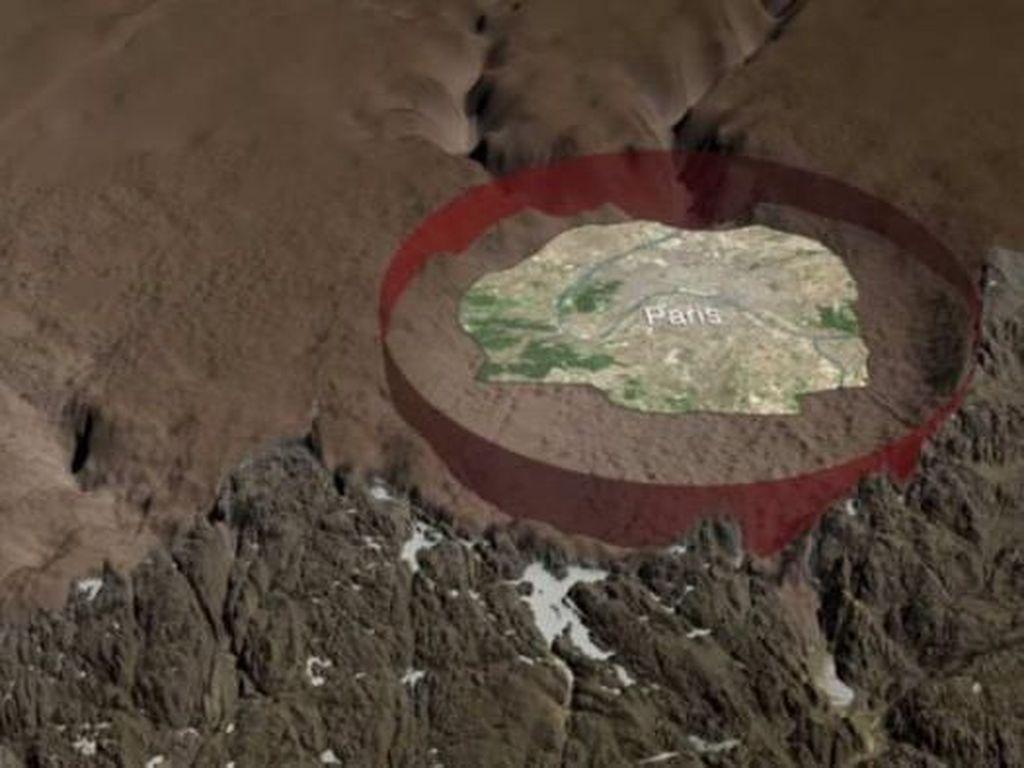 Ilmuwan Temukan Kawah Besar di Bawah Lapisan Es Greenland
