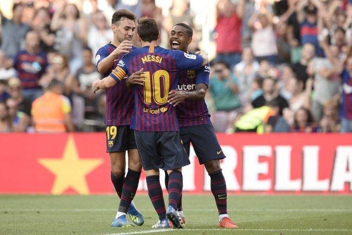 Pemain baru Barcelona Malcom mengungkapkan bagaimana Lionel Messi menginspirasinya. (Foto: Josep Lago/AFP Photo)