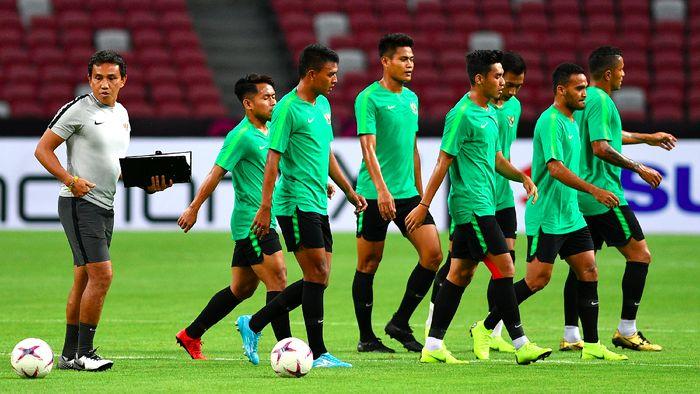 Timnas Indonesia punya peluang mencuri poin dari lawatan ke Thailand (ANTARA FOTO/Sigid Kurniawan)