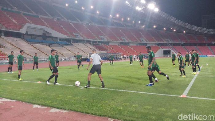 Timnas Indonesia tengah berlatih jelang duel kontra Thailand (Yanu Arifin/Detiksport)
