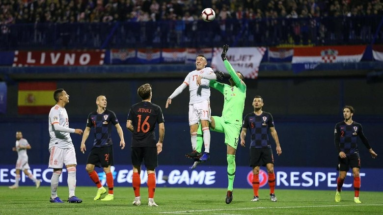 image of Kroasia Mengalahkan Spanyol 3-2 Di UEFA Nations League