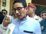 Postingan Capres Picu Pembunuhan, Sandi: Turunkan Tensi Politik