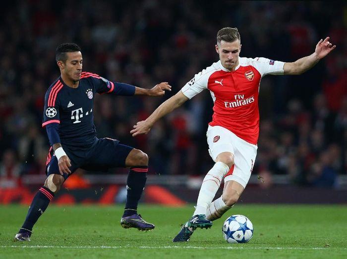 Aaron Ramsey dikabarkan akan berlabuh di Bayern Munich di musim depan. (Foto: Paul Gilham/Getty Images)