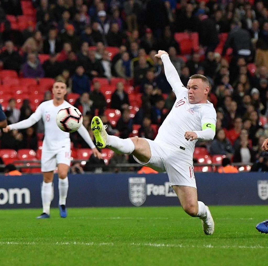 Hasil Uji Coba: Inggris Menang di Laga Terakhir Rooney