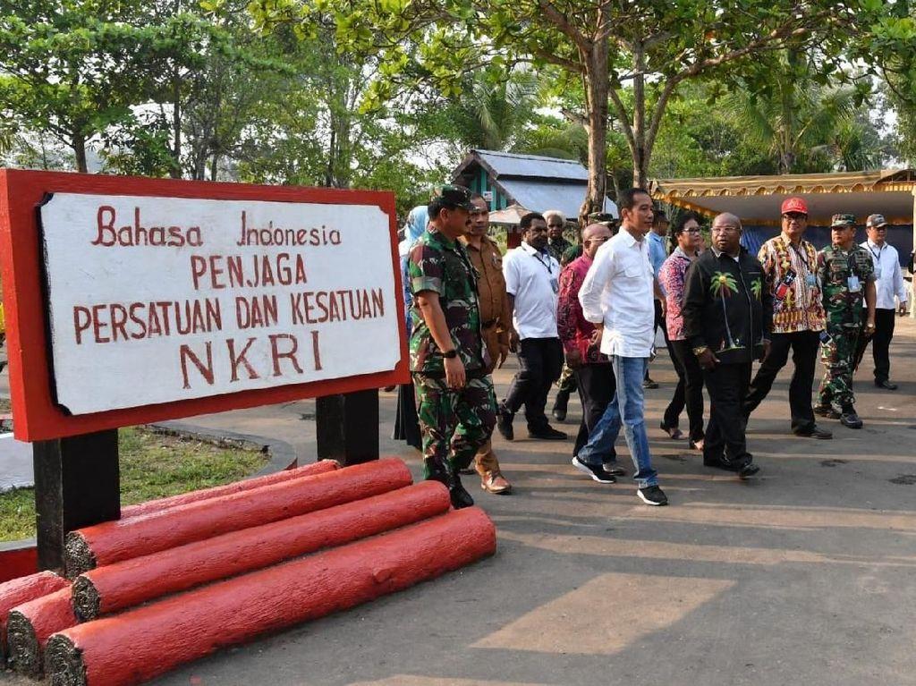 Kunjungi Papua, Jokowi Mau Percantik PLBN Sota Tahun Depan