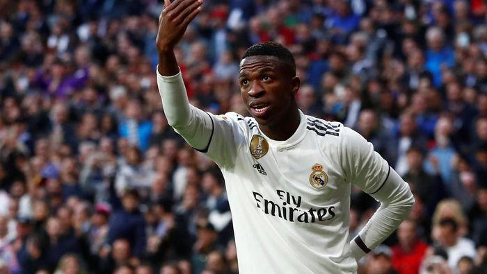 Vinicius Junior mengakui performanya sudah oke di musim debutnya bersama Real Madrid (Juan Medina/Reuters)