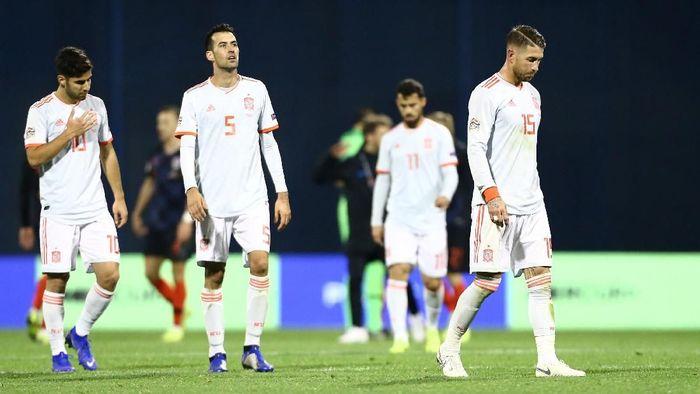 Spanyol kalah 2-3 dari Kroasia. (Foto: Antonio Bronic/Reuters)