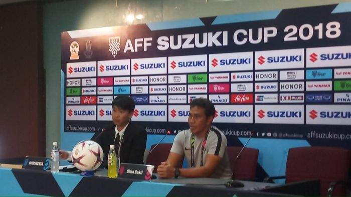 Pelatih Indonesia Bima Sakti mengakui Thailand tampil bagus. Foto: Yanu Arifin/detiksport