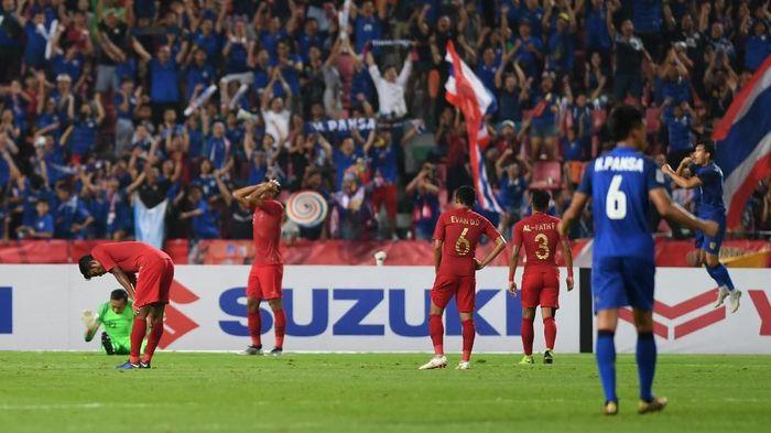 Indonesia dikalahkan Thailand 2-4 di Piala AFF 2018 (Foto: ANTARA FOTO/Akbar Nugroho Gumay/kye.)