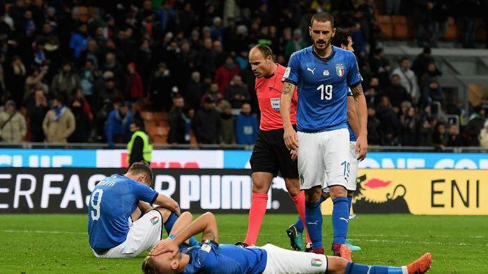 )Leonardo Bonucci saat Italia gagal ke Piala Dunia 2018 (Claudio Villa/Getty Images