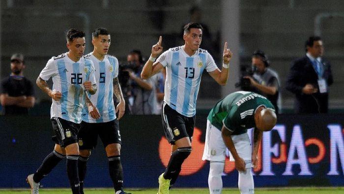 Argentina menang 2-0 di laga uji coba kontra Meksiko (REUTERS/Gustavo Garello)