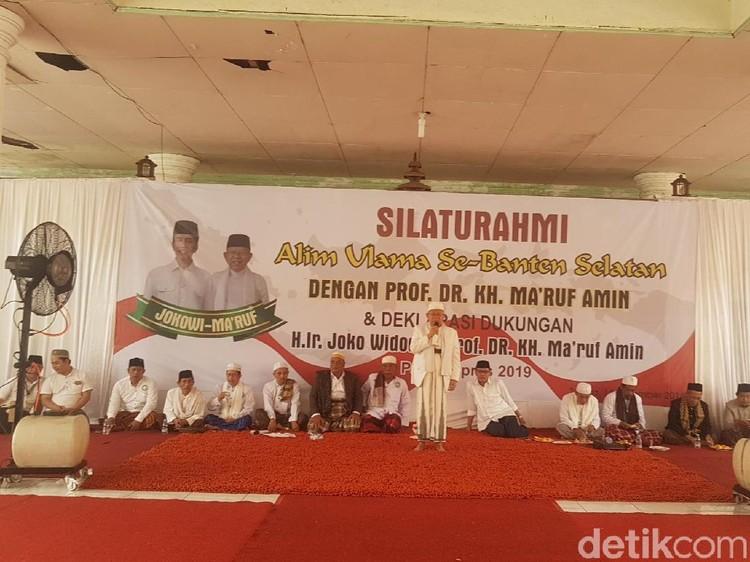 Didatangi Ulama Banten Selatan, Maruf Amin Diminta Turunkan Harga BBM