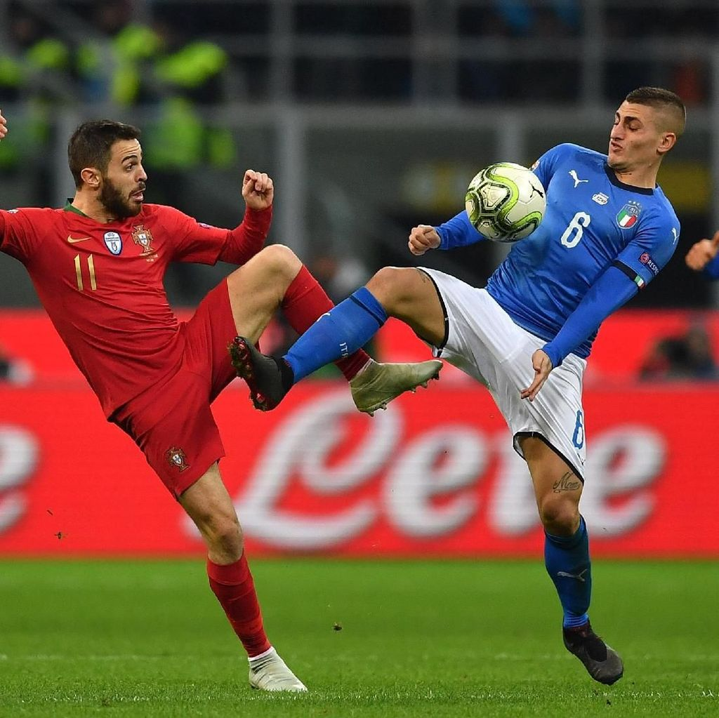 Hasil UEFA Nations League: Imbang dengan Italia, Portugal ke Semifinal